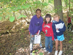 Field Trip Hike in the Woods to Learn About Animals
