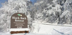 Black Rock Retreat signage along the road