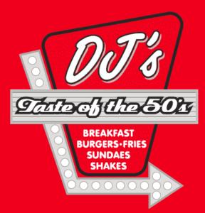 DJ's, logo, sponsor, golf