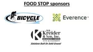 Food Stop sponsors, logo, bike