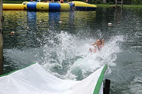 waterslide into lake in Lancaster County, PA