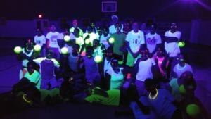 Glow Dodgeball at Black Rock Retreat