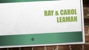 Ray & Carol Leaman, banquet