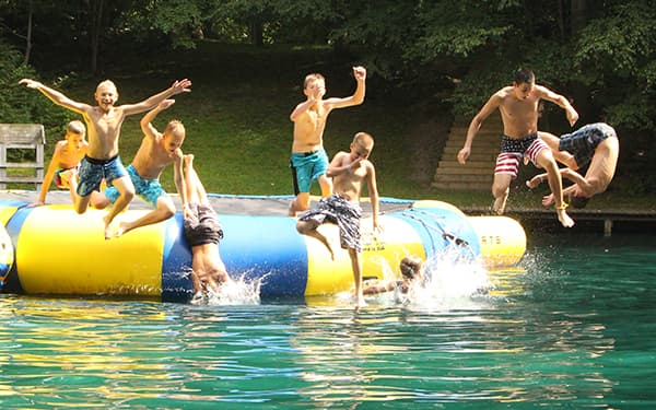 Lake with Water Slide